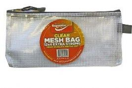 Supreme Clear Mesh Bag 12x4 inches